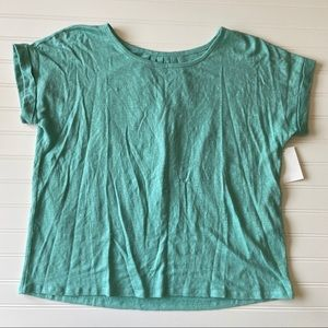 Eileen Fisher 100% Organic Linen Mint Grn Top XXS